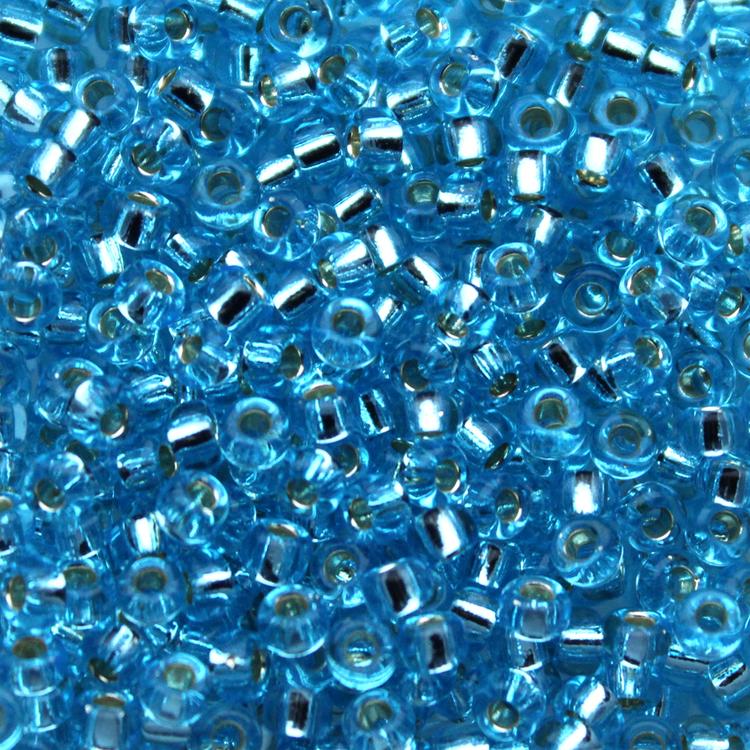 Silverlined Aqua 8-0018 Miyuki 8/0 10g