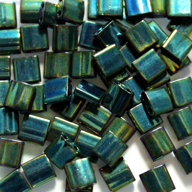 Metallic Green Iris TL0468 Miyuki Tila 5g