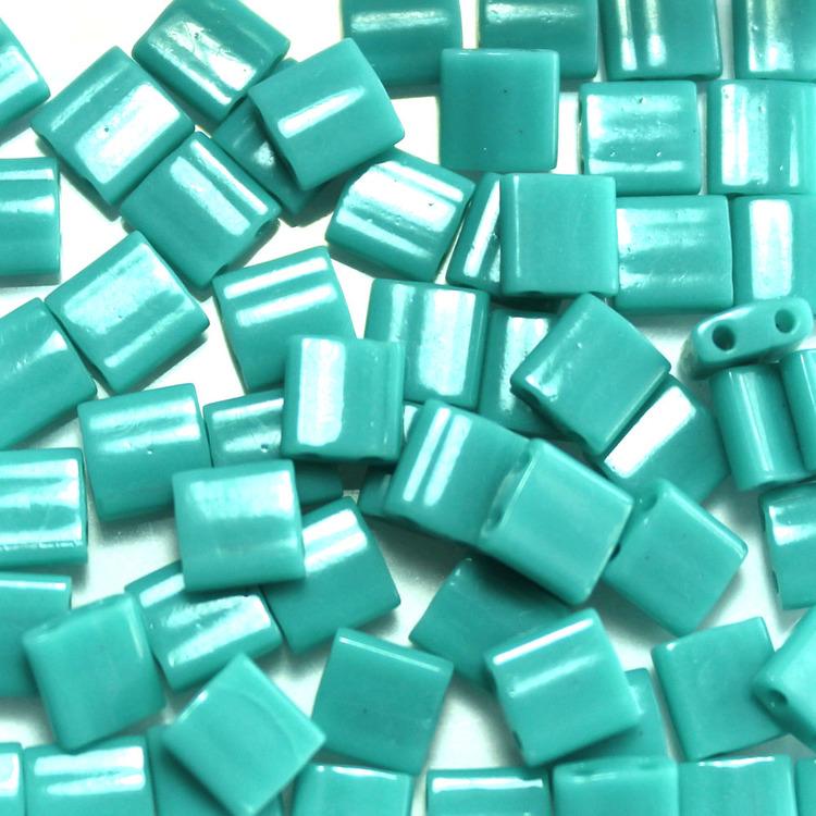 Opaque Turquoise Green TL0412 Miyuki Tila 5g