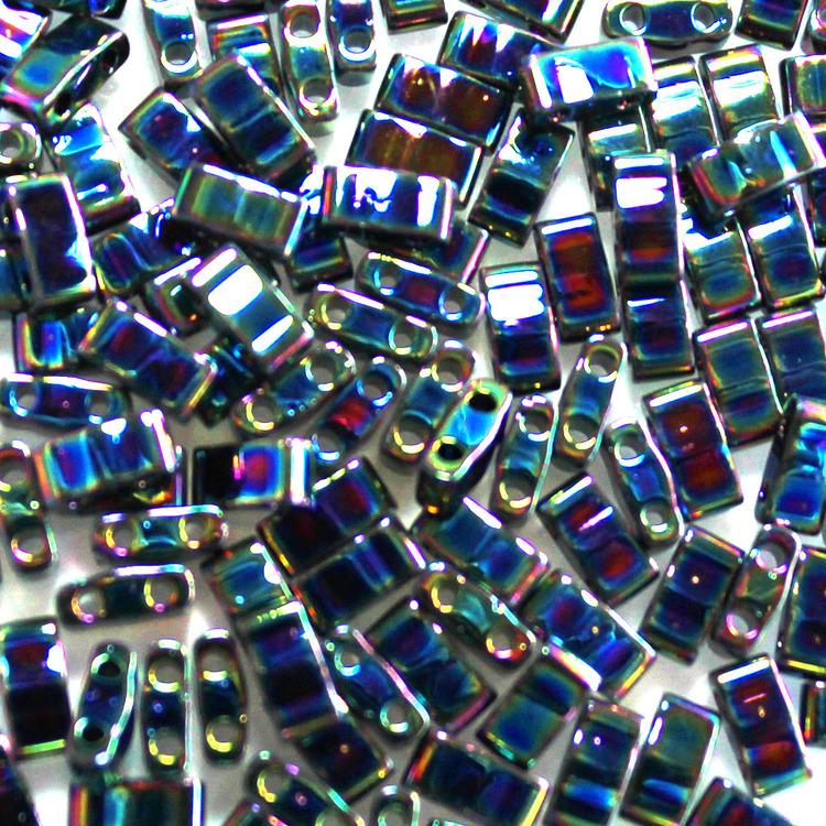 Metallic Variegated Blue Iris Miyuki-HTL0455 Miyuki Half Tila 5g