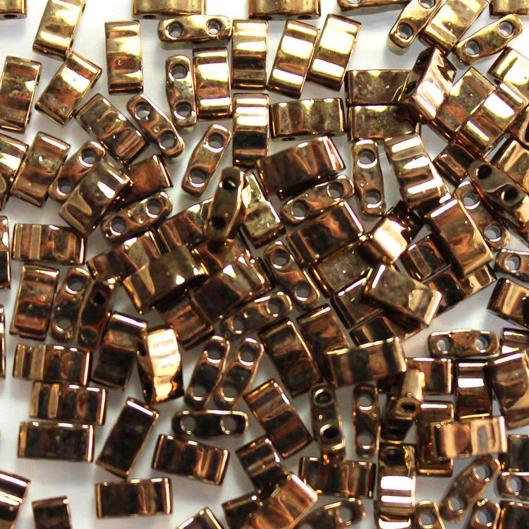 Metallic Dark Bronze HTL0457 Miyuki Half Tila 5g