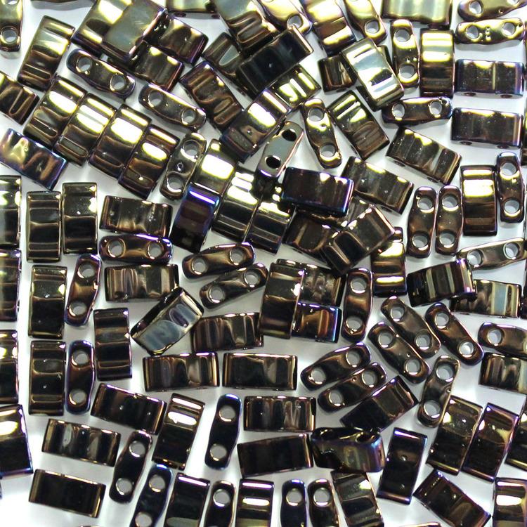 Metallic Brown Iris HTL0458 Miyuki Half Tila 5g