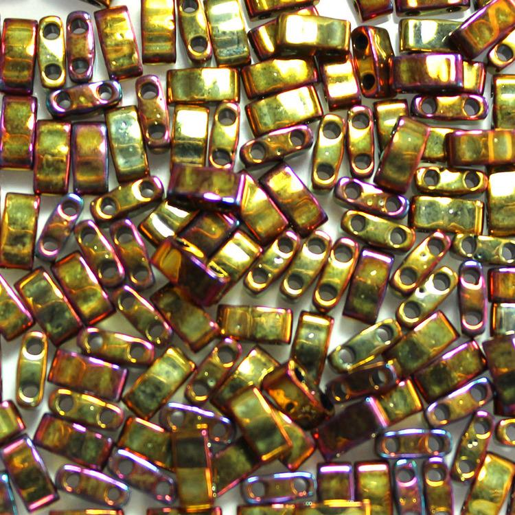Metallic Gold Iris HTL0462 Miyuki Half Tila 5g