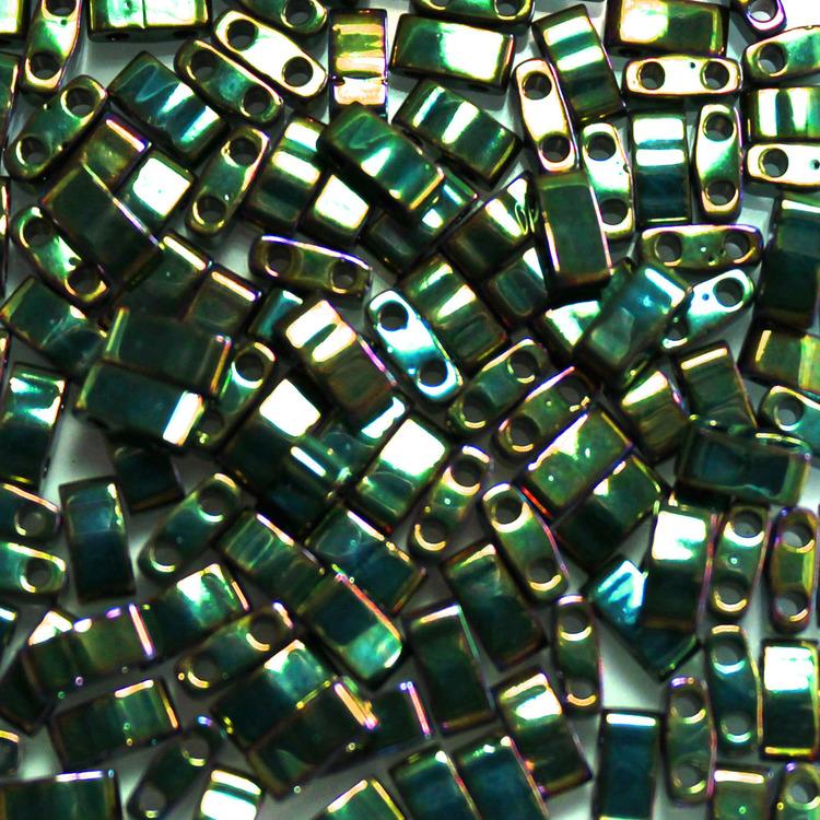 Metallic Green Iris HTL0468 Miyuki Half Tila 5g