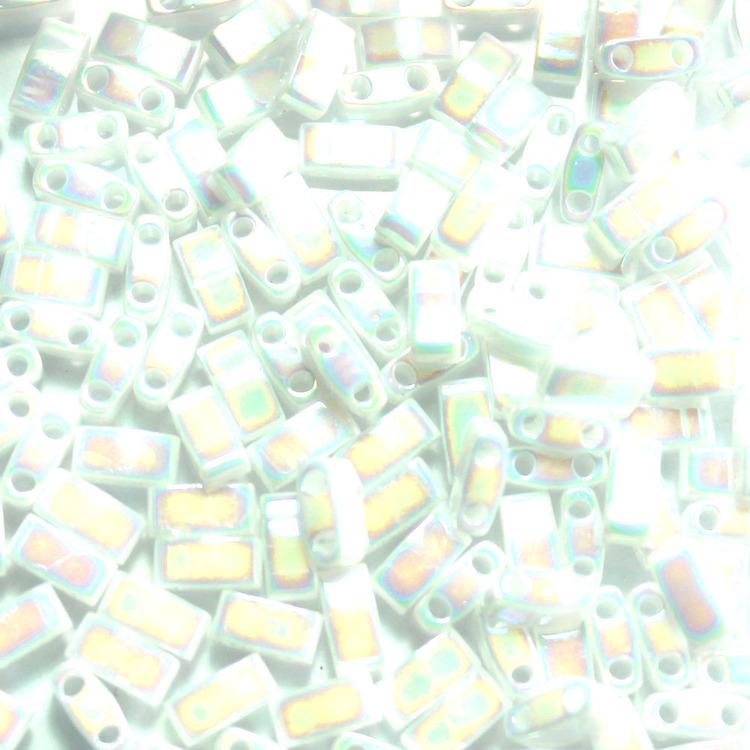White Pearl AB HTL0471 Miyuki Half Tila 5g