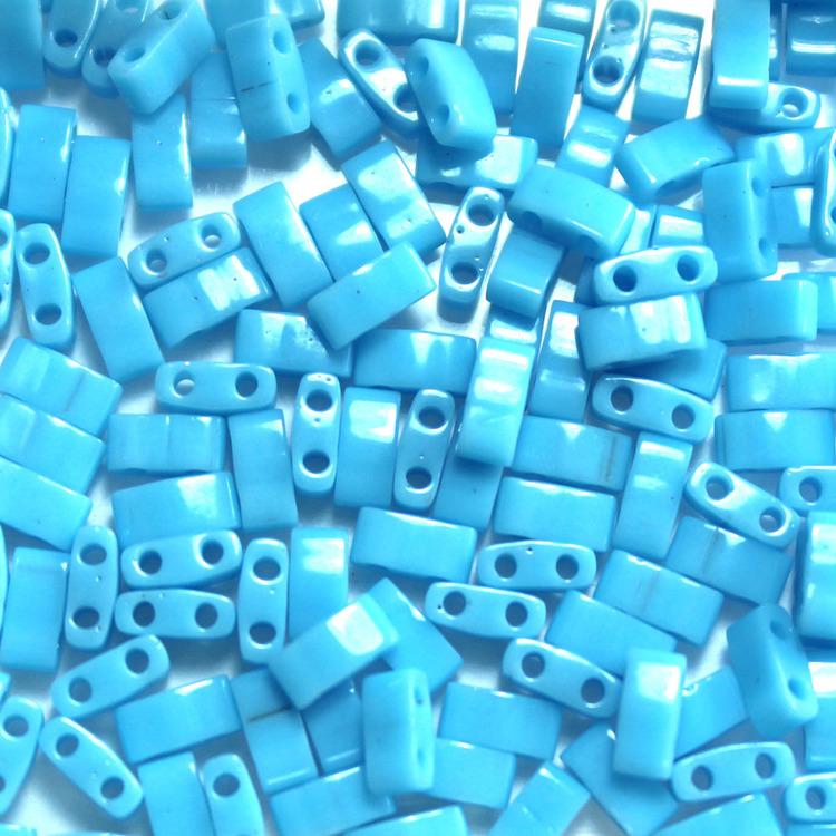 Opaque Turquoise Blue HTL0413 Miyuki Half Tila 5g