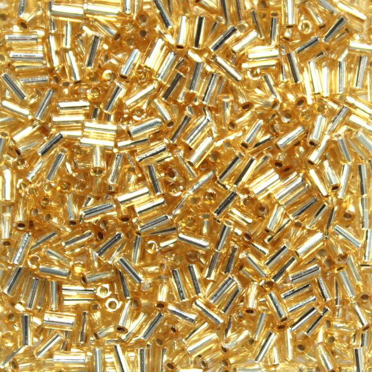 Silverlined Gold BGL1-0003 Miyuki Bugle Beads 3mm 10g