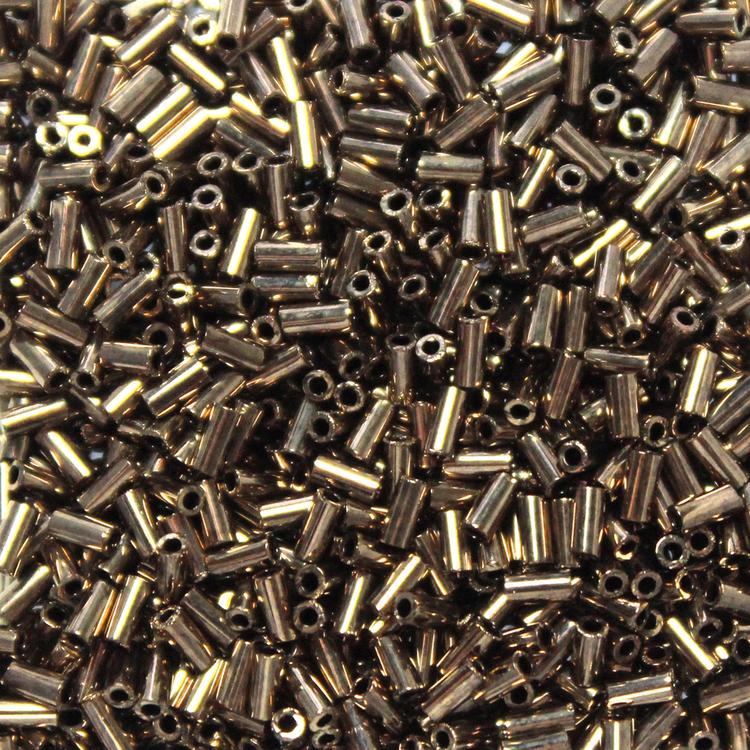 Metallic Dark Bronze BGL1-0457 Miyuki Bugle Beads 3mm 10g