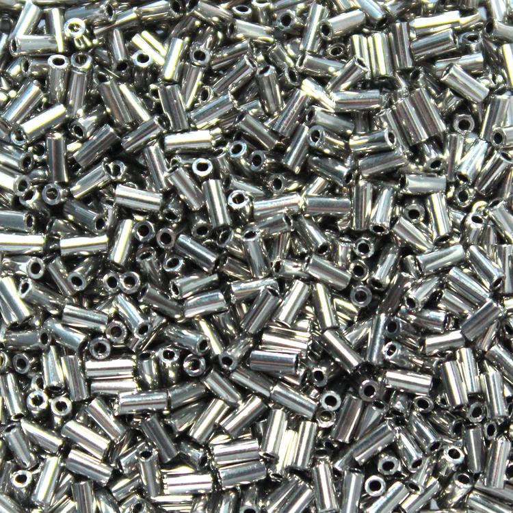 Palladium Plated BGL1-0194 Miyuki Bugle Beads 3mm 5g