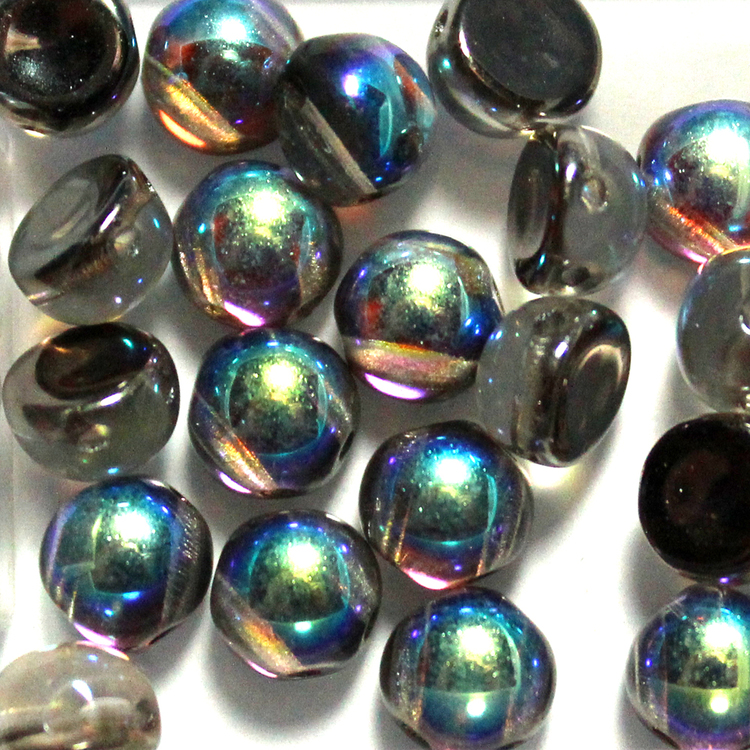 Crystal Graphite Rainbow 2-hole Cabochon 20st