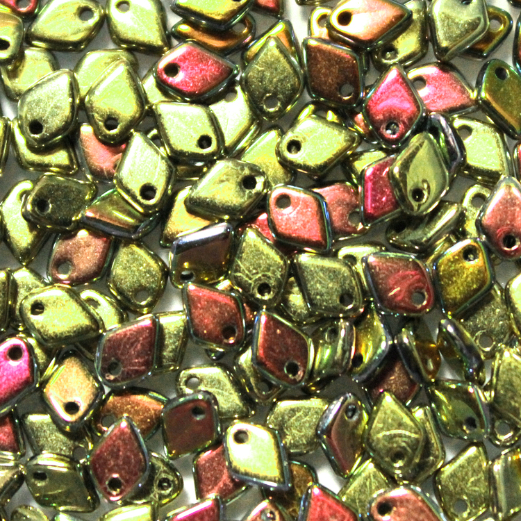 Jet California Blooming Meadow Dragon Scale Bead 5g