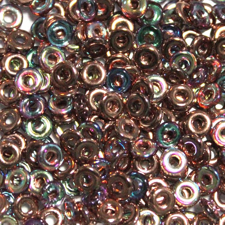 Crystal Copper Rainbow O Bead 5g
