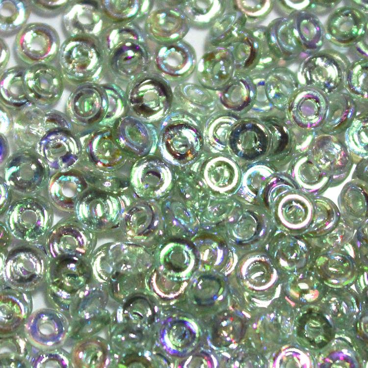 Crystal Green Rainbow O Bead 5g