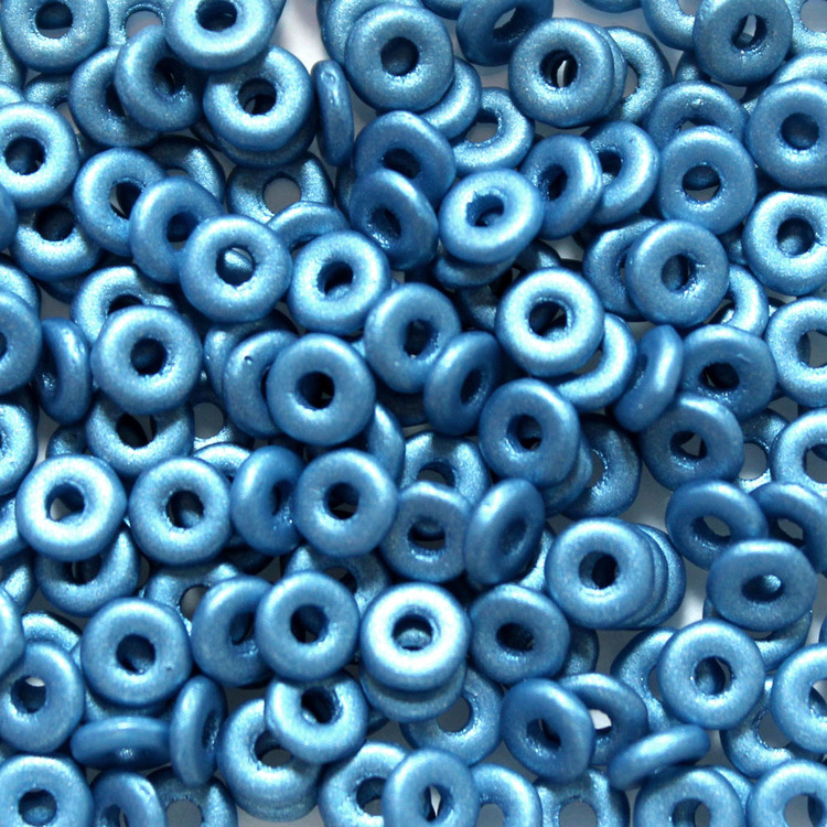 Alabaster Dark Turquoise O Bead 5g