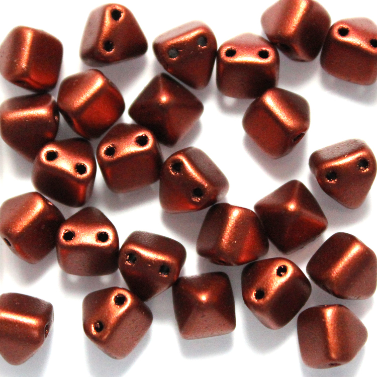Copper Pyramid Beads 6x6mm 25st