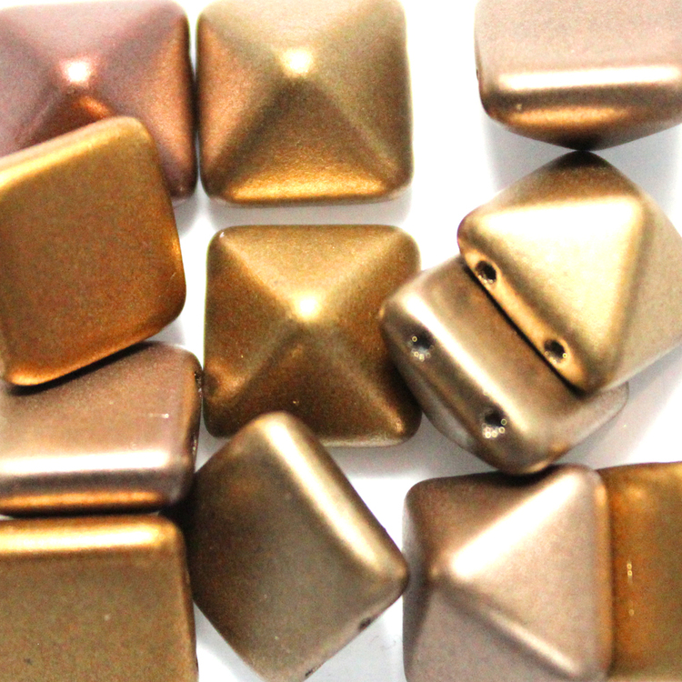 Metallic Mix Pyramid Beads 12x12mm 12st