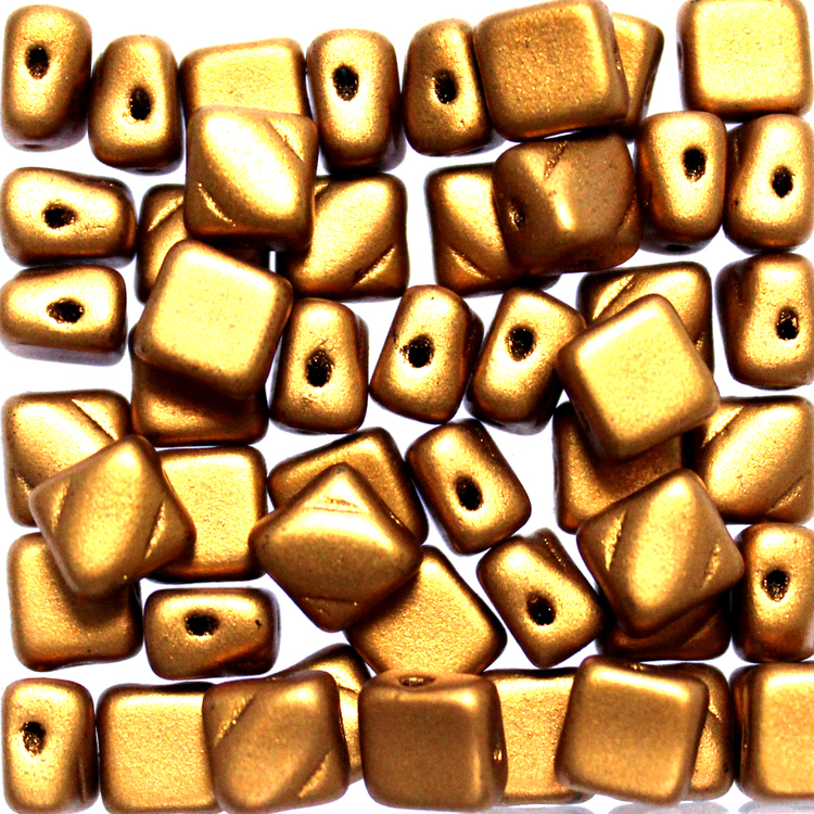 Brass Gold Silky Beads 50st
