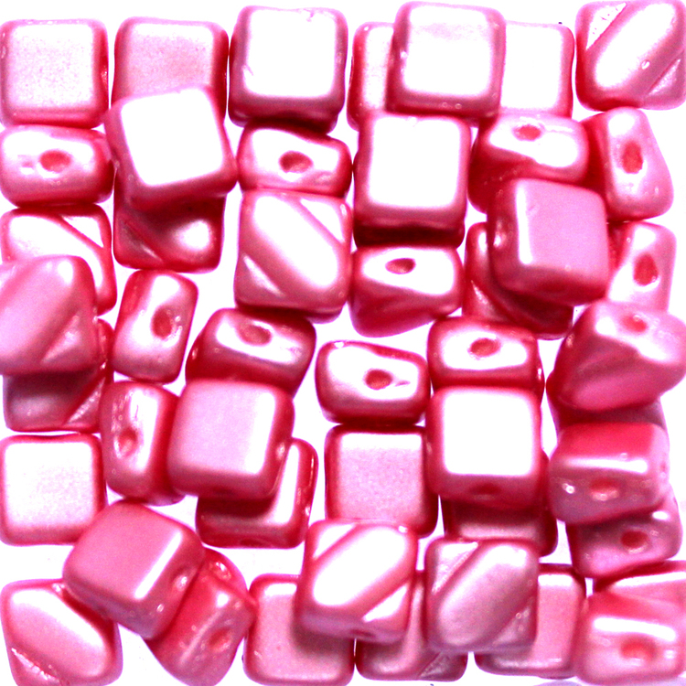 Alabaster Pastel Pink Silky Beads 50st