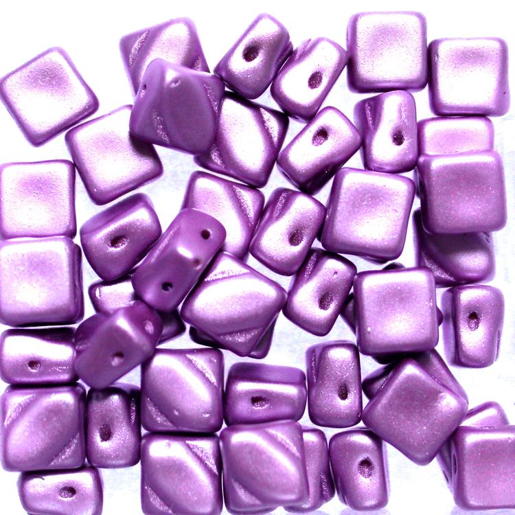 Alabaster Pastel Lila Silky Beads 50st