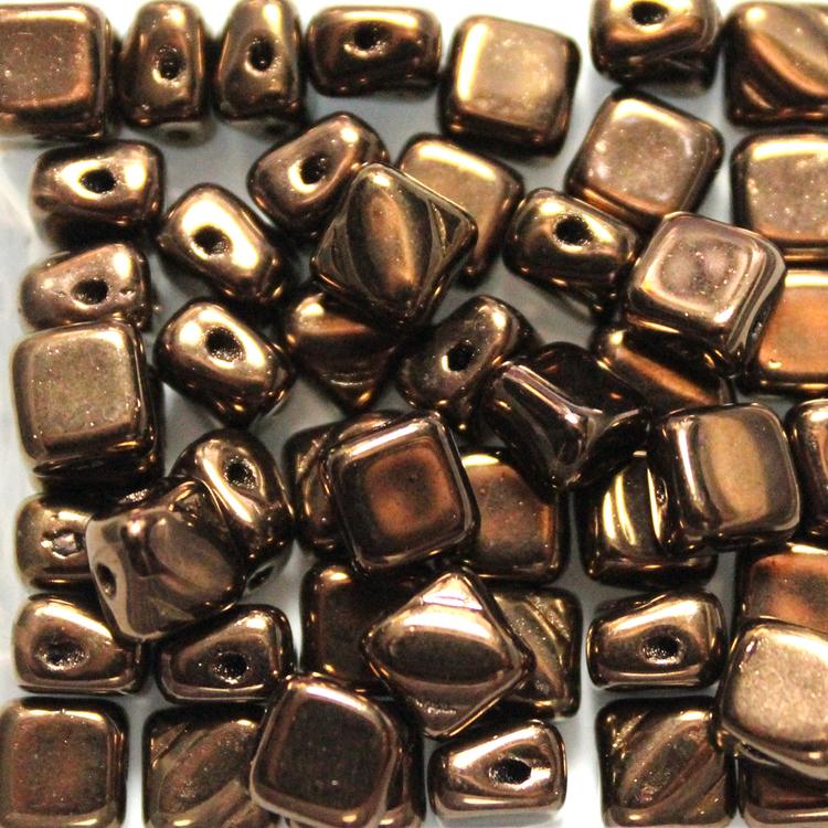 Jet Bronze Silky Beads 50st