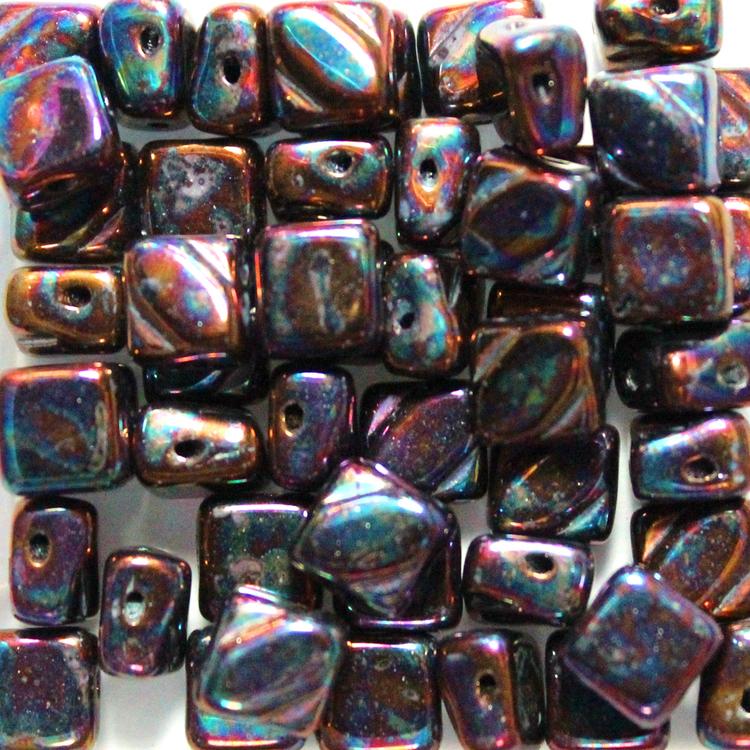 Jet Iris Silky Beads 50st
