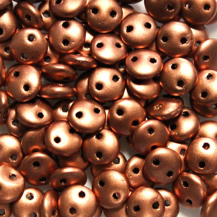 Vintage Copper 2-Hole Lentil 10g
