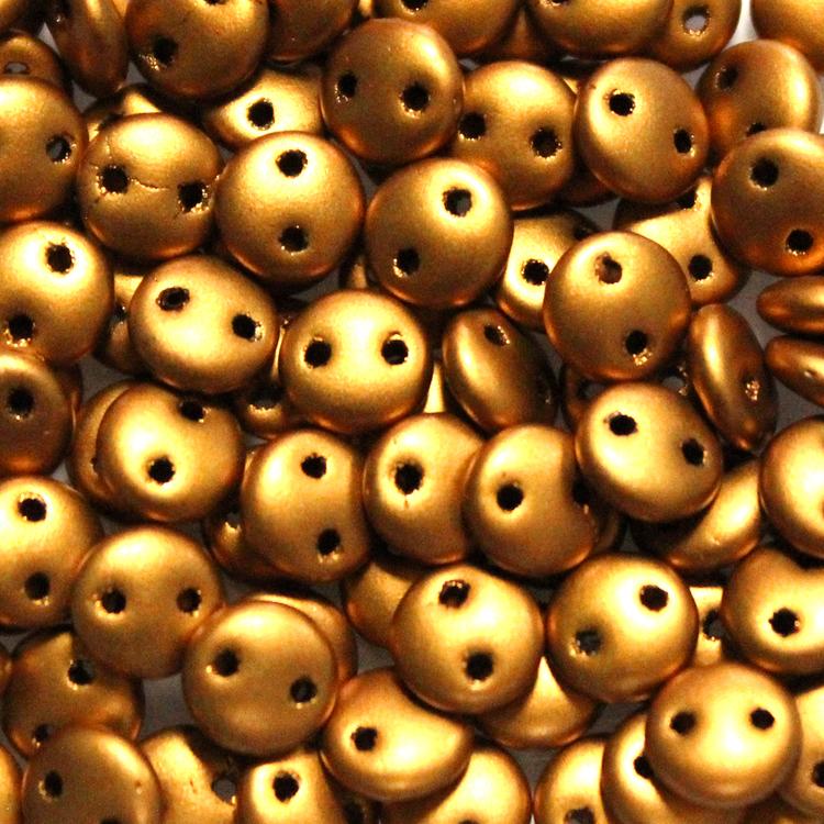 Goldenrod 2-Hole Lentil 10g