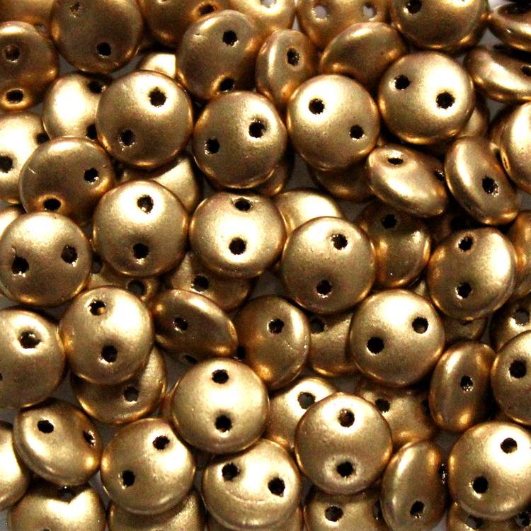 Aztec Gold 2-Hole Lentil 10g