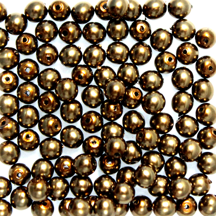 Brass Vaxade Runda/Druks 3mm 100st