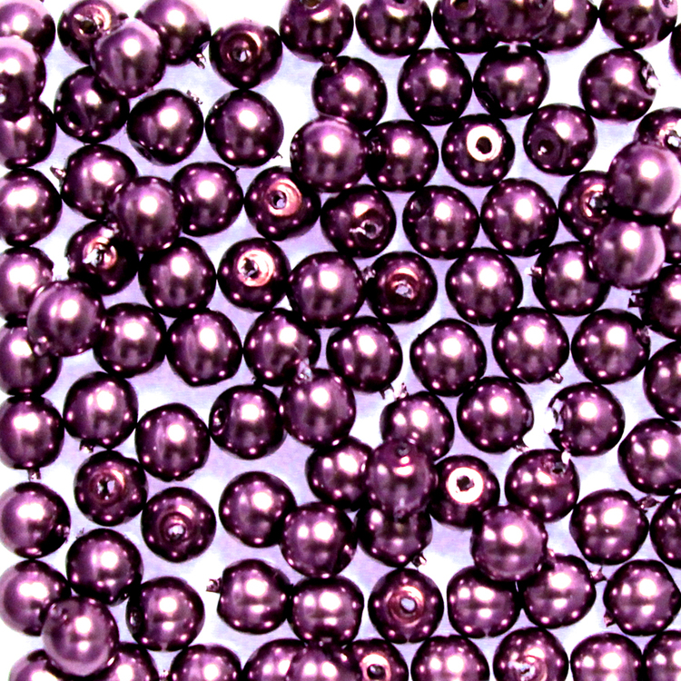 Purple Vaxade Runda/Druks 3mm 100st