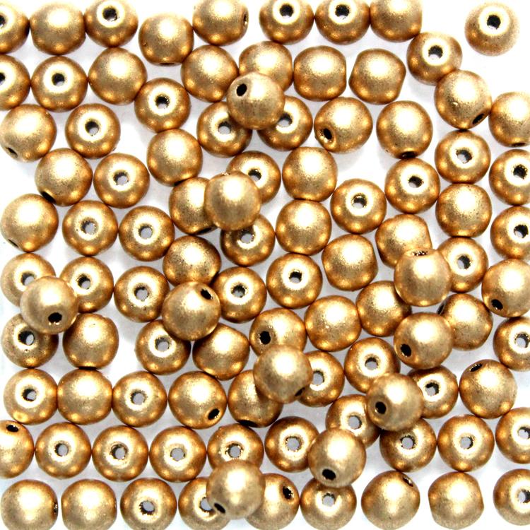 Aztec Gold Runda/Druks 3mm 100st