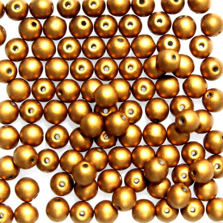 Brass Gold Runda/Druks 4mm 100st