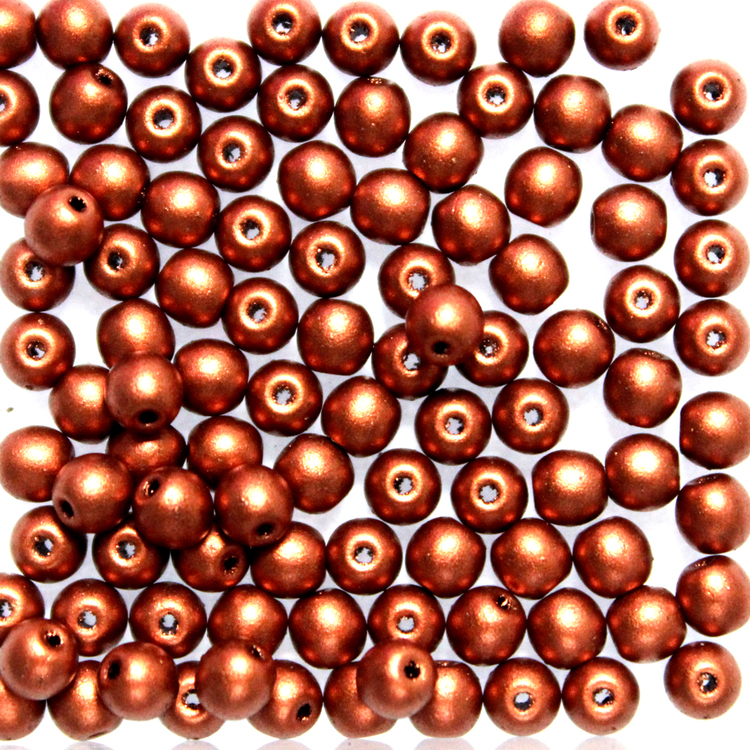 Copper Runda/Druks 4mm 100st