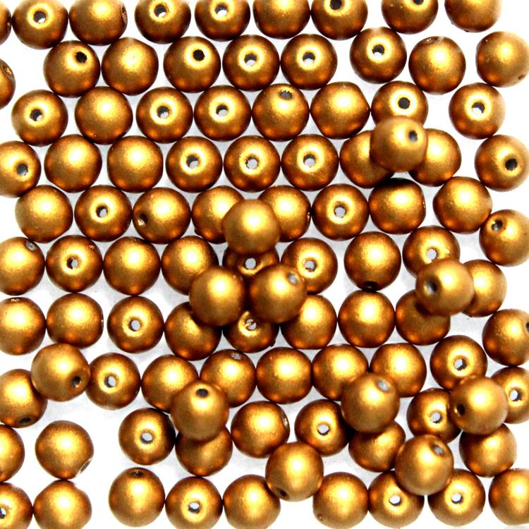 Brass Gold Runda/Druks 6mm 50st
