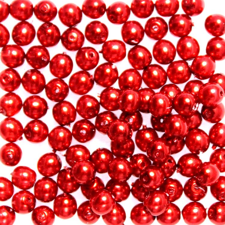 Red Vaxade Runda/Druks 6mm 50st