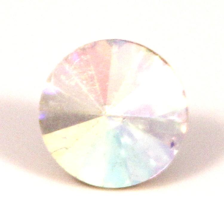 Crystal AB Kinesisk Rivoli 10mm 4st