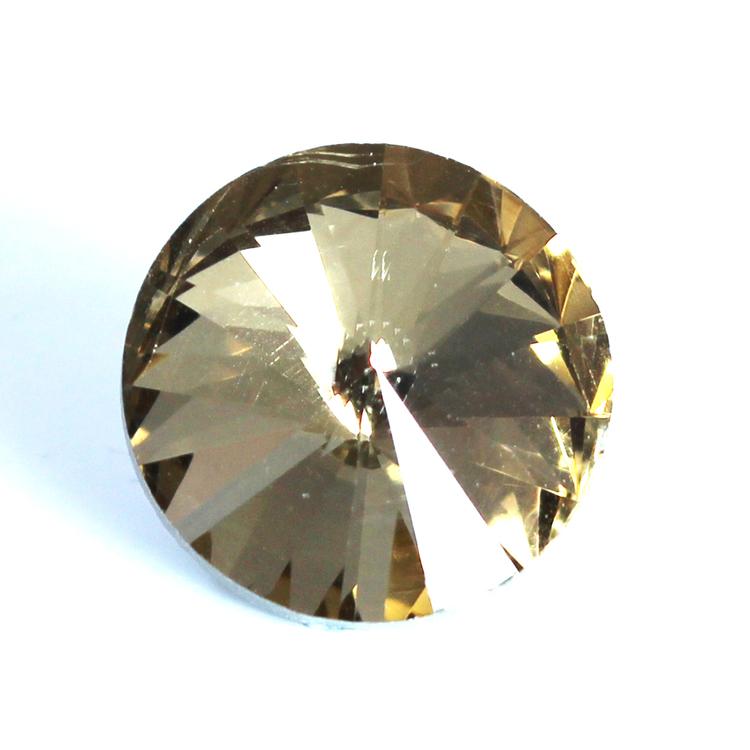 Light Topaz Kinesisk Rivoli 10mm 4st