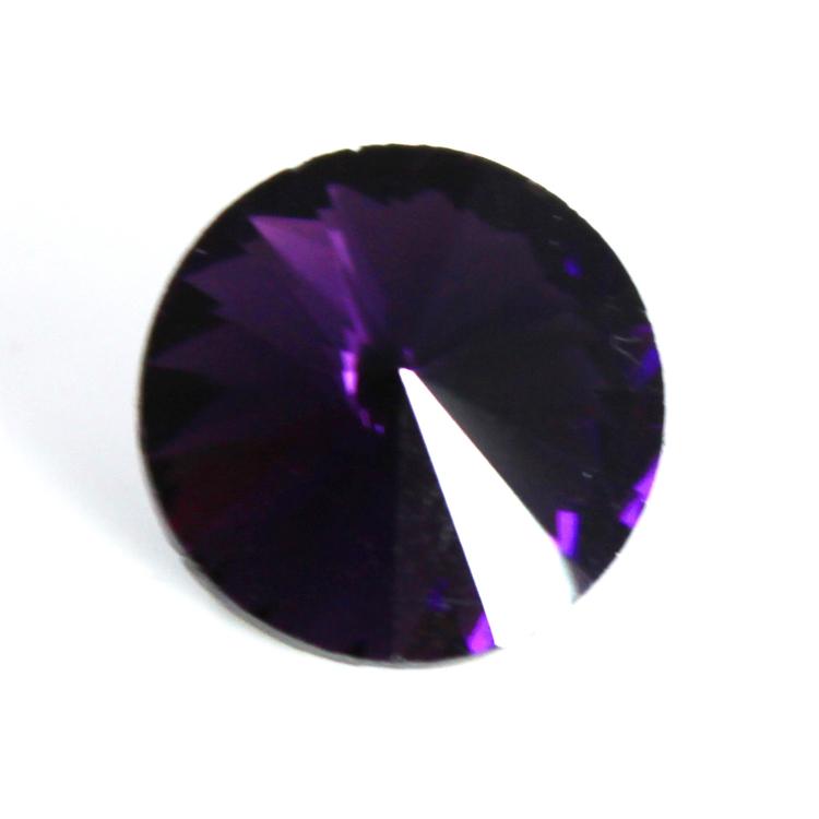 Purple Kinesisk Rivoli 10mm 4st