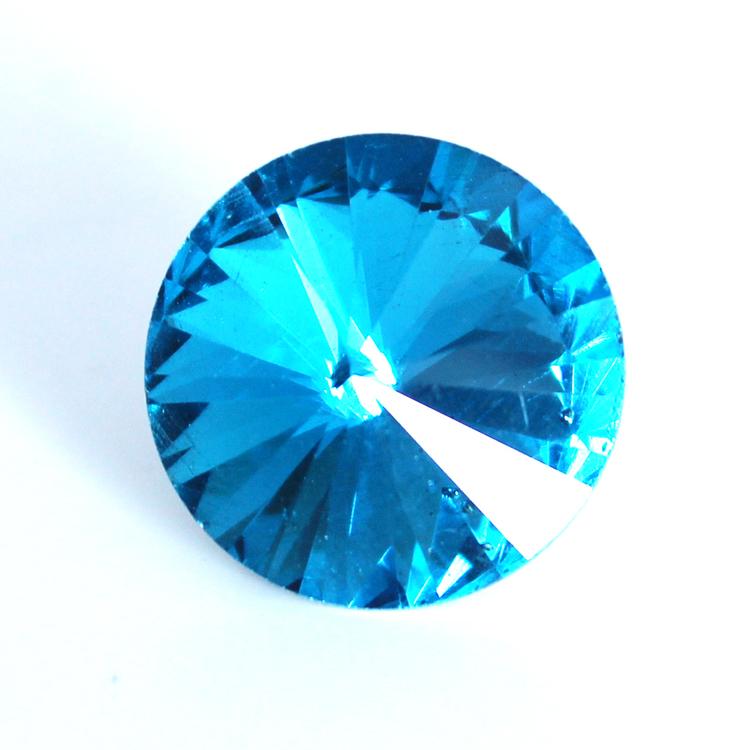 Aqua Kinesisk Rivoli 12mm 3st