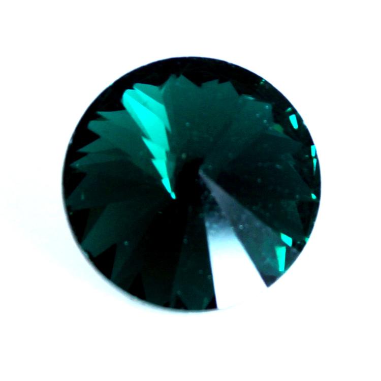 Emerald Kinesisk Rivoli 12mm 3st