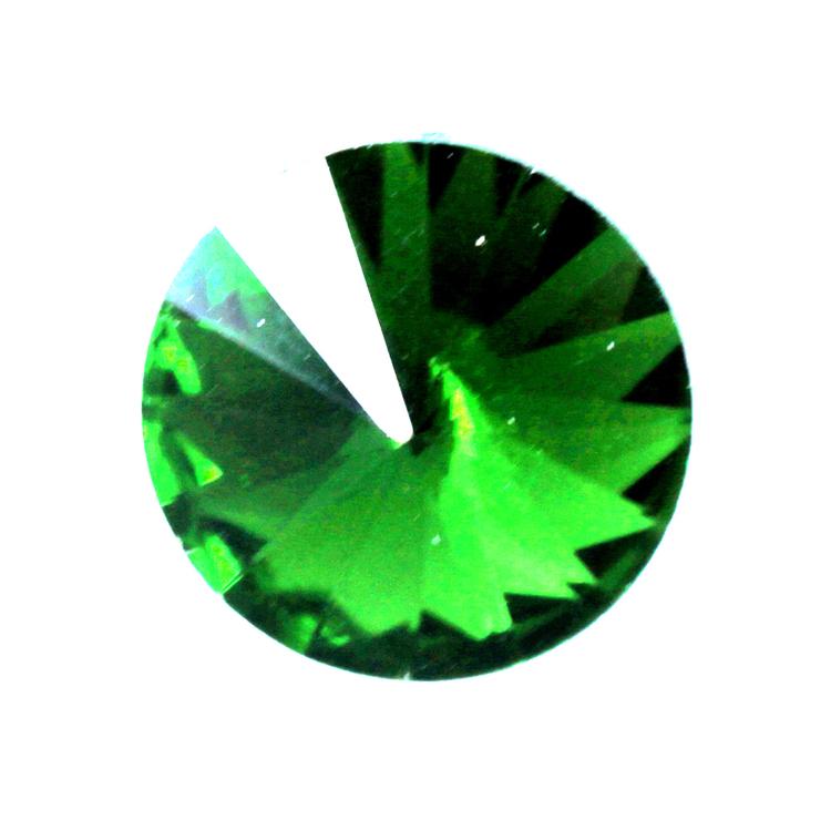 Green Kinesisk Rivoli 12mm 3st