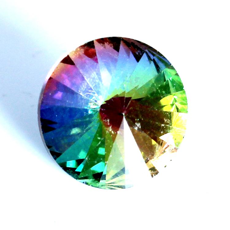 Rainbow Kinesisk Rivoli 12mm 3st