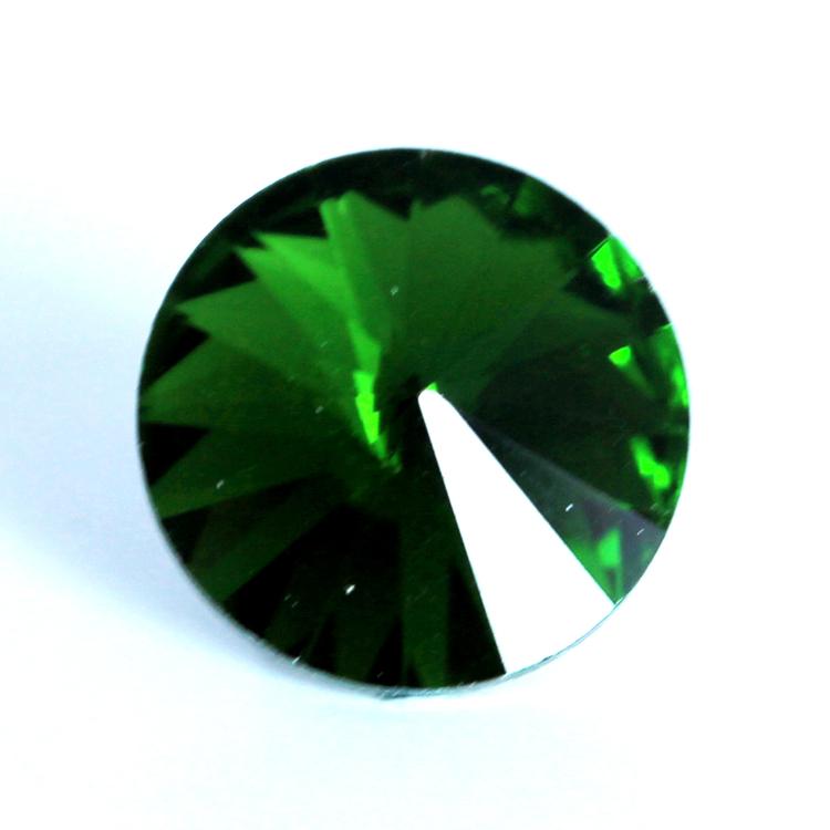 Dark Green Kinesisk Rivoli 14mm 2st