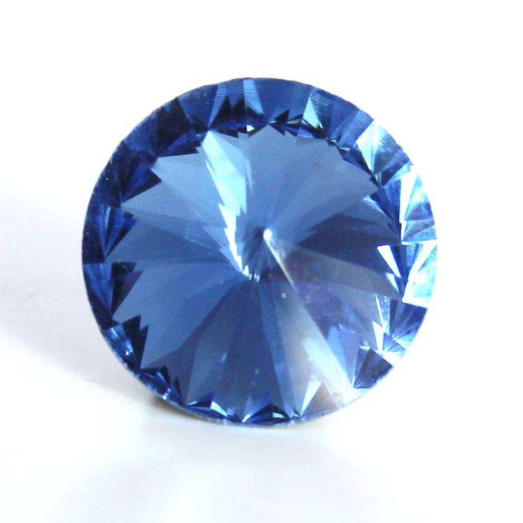Light Sapphire Kinesisk Rivoli 18mm 2st