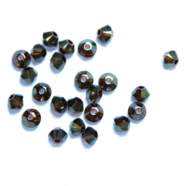 Crystal Bronze Shade 2x Swarovski Bicone 3mm 24st