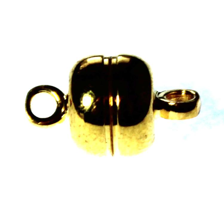 Magnetlås Slät Liten Guldfärgat 7mm 1st