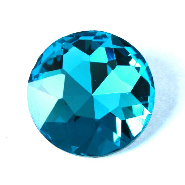 Aqua Kinesisk Round Stone 27mm 1st