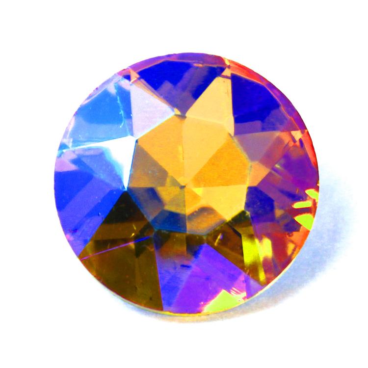 Yellow AB Kinesisk Round Stone 27mm 1st