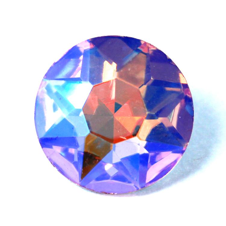 Pink AB Kinesisk Round Stone 27mm 1st