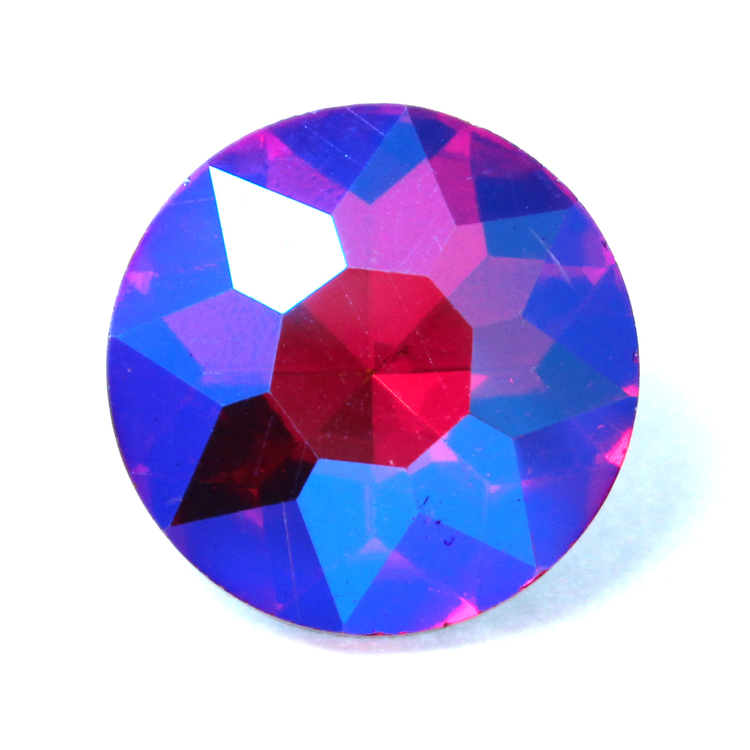 Hot Pink AB Kinesisk Round Stone 27mm 1st